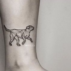Dog tattoo by Fin T.