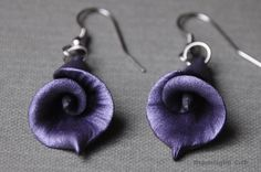 Calla Lily Earrings, Flower Jewelry, Long Earrings, Large Earrings, Drop Earrings, Calla Lily Jewelry, Polymer Clay Calla Lily