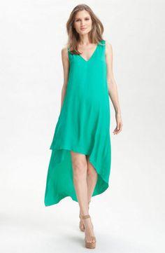New BCBG MAX AZRIA Avery Asymmetrical Dress Sz M Emerald Green NWT $168