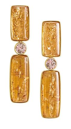 What do you think of these topaz and pink tourmaline earrings? (Via 1stdibs.)