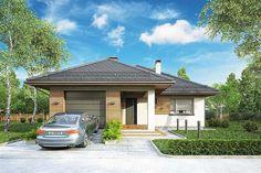 Tip Top III. Parterowy dom z czterospadowym dachem i tarasem - Studio Atrium Tip Top, Interior Design Sketches, Atrium, Gazebo, Outdoor Structures, Studio, Outdoor Decor, Home Decor, Projects