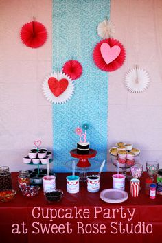 Reagan's Cupcake Party at Sweet Rose Studio complete with a Decorate Your Own Cupcake Bar!