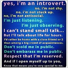 """I don't understand why its """"bad"""" to be reserved. I hate when people call me out on it."""