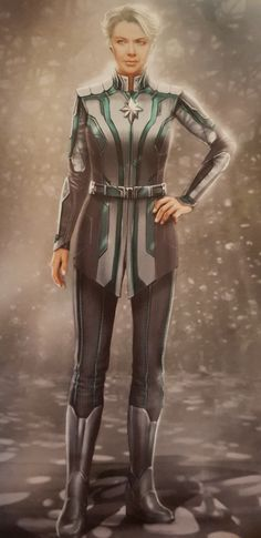 Captain Marvel introduces us to a very different take on the Kree Supreme Intelligence and this cool new concept art from the movie shows some alternate takes on the A. Marvel Concept Art, Annette Bening, Marvel Comic Character, Pretty Cure, Marvel Cinematic Universe, Movies Showing, Captain Marvel, My Outfit, Marvel Comics