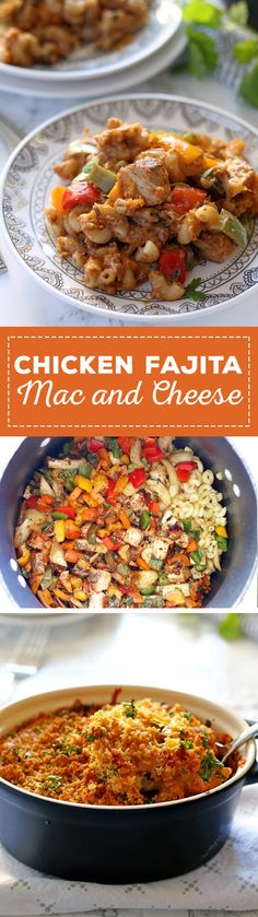 This chicken fajita mac and cheese is some serious comfort food. It is ...