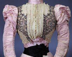 1896 dress bodice detail by Duboc,