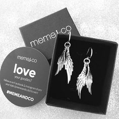 One of our favourite pieces of jewellery, MJJ sterling silver double wing earrings. Available online at memeandco.com
