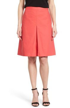 Vince Camuto Pleat Front A-Line Skirt