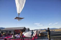 Google has launched its jellyfish-shaped balloons this week from a frozen field in the heart of New Zealand's South Island hardened into the blue skies above Lake Tekapo, passing the first big test of a lofty goal to get the entire planet online.