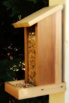 reclaimed wood bird feeder #LiquidGoldSalvagedWood