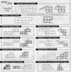 Chão de Giz Artesanatos: PAP: Como fazer o Crochê File
