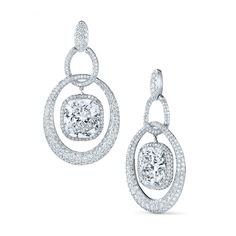 Revel diamond earrings from the Kwiat Anniversary Collection