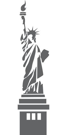 Statue of Liberty stylized - /American_History/famous_places/Statue_of_Liberty/Statue_of_Liberty_stylized. Stencil Patterns, Stencil Art, Stenciling, Kirigami, Inkscape Tutorials, Scroll Saw Patterns, Silhouette Art, Silhouettes, Pyrography