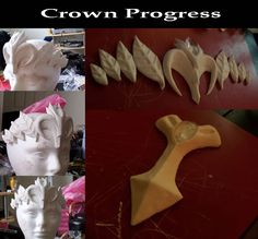 Sooooooooo I was going through a TON of old photos, mostly on my photobucket and I came across a few of my crown WAAAAAY back in the day. I made all of these out of Sculpey (sculpey=) hehe the back...