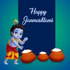 Janmashtami Greetings, Janmashtami Wishes, Krishna Janmashtami, Krishna Flute, Bal Krishna, Krishna Art, Chinese New Year Greeting, New Year Greeting Cards, Janmashtami Images
