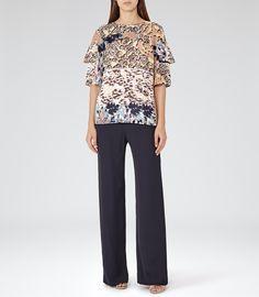 Womens Multi Ruffle Detail Top - Reiss Fife