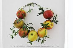 organized living solutions: Decorating with fresh apples - a DIY