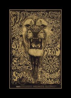 The Psychedelic Experience - Rock Posters from the San Francisco Bay Area, on display at the Denver Art Museum. This poster by Lee Conklin features Steppenwolf and the Grateful Dead at Fillmore West in Psychedelic Experience, Psychedelic Music, Psychedelic Posters, Rock Posters, Concert Posters, Music Posters, Art Posters, Fillmore West, Classic Rock Albums