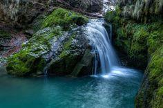 Waterfall at Zeleni Vir, Gorski Kotar, nearby Skrad, #Croatia , photographed at Winter morning hours.