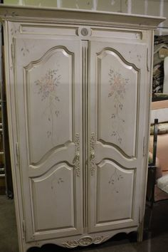 Painted Ethan Allen Country French Armoire With Shelves, Drawers Nr. Mint