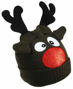 Rudolph The Red Nosed Reindeer Hat Novelty Christmas Boys Girls Childrens  Kids f161ee69f79