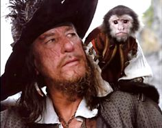 Captain Barbossa | Captain Barbossa And Jack The Monkey Graphics Code | Captain Barbossa ...