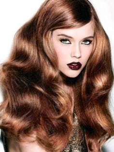 Hair long amber dark blonde golden light brown