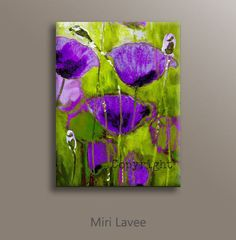 Dipinti di arte astratta stampa tela arte del di MiriLaveeArt