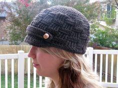 Brimmed Basket Beanie  Hat CROCHET PATTERN by Bowtykes on Etsy, $4.00