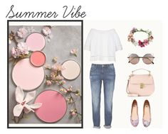 """Summer Vibe"" by joanabernardo21 ❤ liked on Polyvore featuring Scoop, H&M, Chloé, Linda Farrow and Topshop"