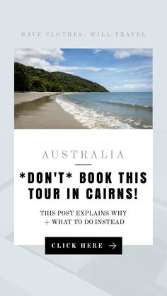 This tour in Cairns, Australia was a complete waste of time and money! This post is explaining why I don't recommend taking this tour and what to do instead Cairns Australia, Visit Australia, Australia Travel, Australia Holidays, Daintree Rainforest, The Answer To Everything, Wildlife Park, New Zealand Travel