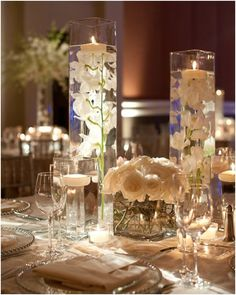 White is for Good Vibes … and Amazing #Centerpieces. To see more #wedding ideas: www.modwedding.com