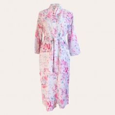 Wrap yourself in a crisp cotton kimono robe, with our fabulous new range of patterns and colours to choose from. The perfect blend of East meets West, combining exquisite fabric with a timeless, wearable design that is as chic as it is comfortable. Featuring a feminine floral fabric, this beautiful Grace Kimono makes the perfect gift to yourself or for that special someone.