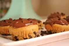 Chocolate chip almond butter cupcakes with chocolate ganache