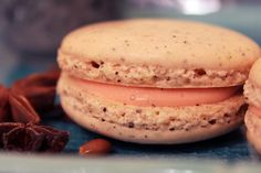 How about Thai tea? Thai Iced Tea Macarons with Coconut Milk Ganache (try to say that ten times really fast) to the rescue! Yummy Treats, Delicious Desserts, Sweet Treats, Thai Milk Tea, Sugar Cravings, Iced Tea, Macaroons, Coconut Milk, Sweet Tooth