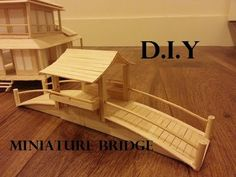 how to make hamster toy : popsicle stick bridge - Popsicle Stick Crafts House Popsicle Stick Bridges, Popsicle Stick Crafts House, Popsicle Sticks, Craft Stick Crafts, Resin Crafts, Craft Ideas, Diy Hamster Toys, Hamster Stuff, Japanese Tea House