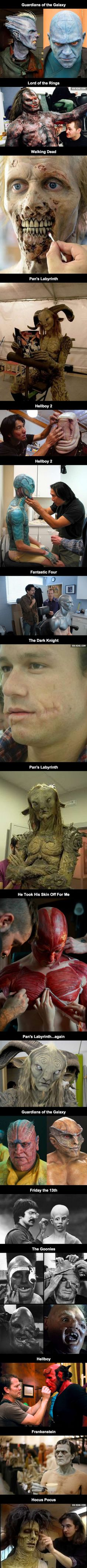 Here's a series of incredible movie makeups