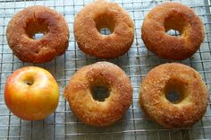 """Baked Apple Pie Donuts or as we like to call them, """"NOM, NOM, NOM Donuts."""""""