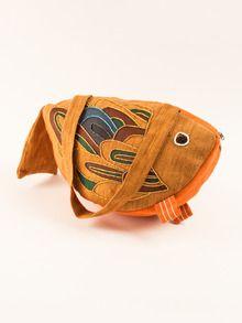 kids fish purse