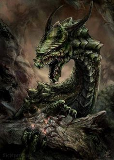 In Norse mythology, Níðhöggr (Malice Striker, often anglicized Nidhogg) is a dragon who gnaws at a root of the world tree, Yggdrasil. In historical Viking society, níð was a term for a social stigma implying the loss of honor and the status of a villain. Norse Goddess Names, Celtic Mythology, Mythological Creatures, Fantasy Creatures, Mythical Creatures, Thor, Rune Viking, Norse Religion, Celtic Dragon Tattoos