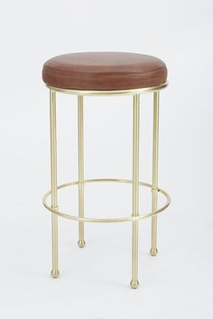 Orsini Stool   Lawson Fenning  in an antique brass or black would be pretty