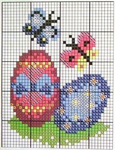 Eggs and Butterflies cross stitch