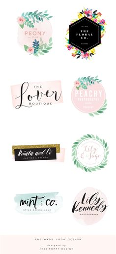 ASHLYN GRACE- INSTANT DOWNLOAD PRE DESIGNED LOGO