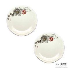 Hi-Luxe Dinner Plates: Buy Hi Luxe Silver Fish Quarter Plate Crown Dec Set Of 2 Pcs, Forever Online | Oyekitchen.com