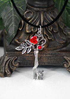 Rose Key Necklace, KeypersCove on Etsy.