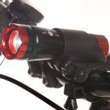 """The BEST Bicycle Bike Light - """"FREE TAILLIGHT & WHEEL LIGHTS"""" - BRIGHTEST Headlight - Flashlight - Waterproof - Highest Quality Aircraft Aluminum - ZOOMABLE. Up to 240 Lumens - BEST Light for Nighttime Safety - Mountain / Road / Children's Bik"""