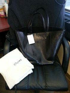 Celine black python cabas tote | Bags Bags Bags and Wallets ...