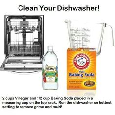 Home remedy for dirty dishwashers #goodtoknow #cleaning