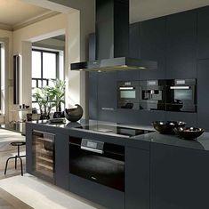 36 nice ideas for your modern kitchen remodel 30 Modern Kitchen Cabinets, Kitchen Cabinet Design, Modern Kitchen Design, Interior Design Kitchen, Open Plan Kitchen Living Room, Home Decor Kitchen, Black Kitchens, Home Kitchens, Cuisines Design