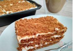 Smetanové lotus řezy alá medovník (bez pečení a za 15 minut) - Recepti Lotus Cheesecake, Cheesecake Recipes, Cake Cookies, Cupcake Cakes, Different Cakes, Square Cakes, No Cook Desserts, Cafe Food, Sweet Cakes